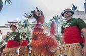 Aliga Fantastic Figure At Festa Major In Sitges, Spain