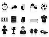 image of olympic-games  - isolated black football icons set on white background - JPG