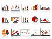 Simple Color Financial Management Reports Icon