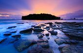 Seascape Of Klong Muang Beach At Sunset, Krabi, Thailand