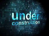 SEO web design concept: Under Construction on digital background