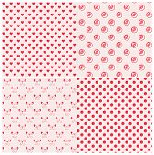 Seamless Patterns In Pink Colors