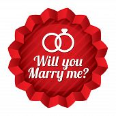 Wedding star. Will you marry me sticker.