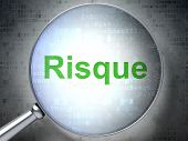 stock photo of risque  - Magnifying optical glass with words Risque - JPG