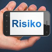 Finance concept: Risiko(german) on smartphone