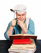Chef With Recipe Book.
