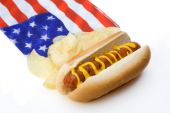 Hot Dog And Chips American Style