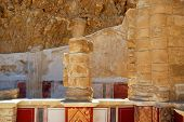 stock photo of masada  - The ruins of an ancient temple - JPG