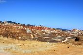 Iron pyrite, Corta Atalaya, the largest open pit mine in Europe, Minas de Riotinto, Nerva. Huelva pr