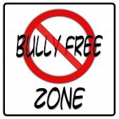 Bully free zone sign with black border