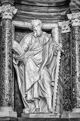 Statue of St.  Simon at the Basilica of St. John Lateran in Rome. Please look at my images of the other saints from this church.