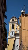 Clocktower In Villefranche At Noon