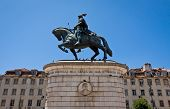 Equestrian Statue Of Dom Joao I In Lisbon, Portugal