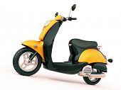 foto of scooter  - Modern classic scooter on a light background - JPG