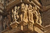 Human Sculptures At Vishvanatha Temple, Western Temples Of Khajuraho, Madhya Pradesh, India