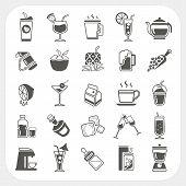 Beverage Icons Set