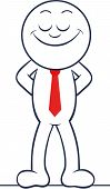 Cartoon Businessman Happy