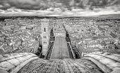 Panoramic Monochrome View Italy