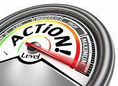 Action Conceptual Meter Indicate Maximum