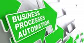 stock photo of slogan  - Business Processes Automation  - JPG