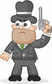 Cartoon Mafia Boss Waiting