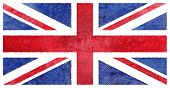 Grunge UK flag. British flag with dirty grunge texture