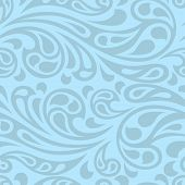 Water splash seamless waves abstract pattern.