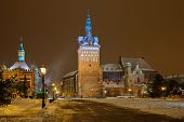 stock photo of torture  - The Torture House and Prison Tower in Gdansk Poland.