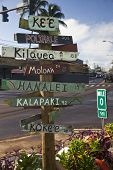 Rustic sign in Kauai in the Hawaiian Islands