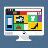 internet shopping elements and online banking