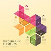 Abstract Low Poly Style Infographics
