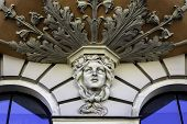 Close-up Of Facade Of Art Nouveau Building, Riga Latvia