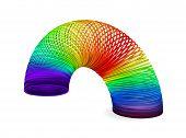 Rainbow spiral spring