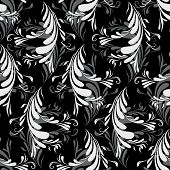 Seamless With Abstract Feathers