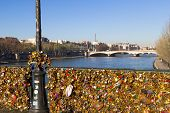 Pont Des Arts And Eiffel Tower