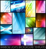 stock photo of curves  - Abstract background templates for your colorful flyers or business cards - JPG