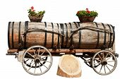 Wine Barrels in Aigle, Switzerland Isolated on White