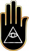 foto of illuminati  - Eye of Providence in hand - JPG