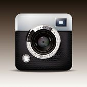 Retro Camera Icon Vector. Detailed Vector Illustration of Retro Viewfinder Camera.