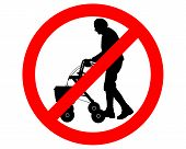 picture of rollator  - Detailed and colorful illustration of restricted for elderly people - JPG