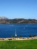 Yachts on beautiful mediterranean island