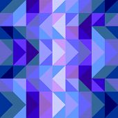 Seamless vector blue pattern, texture or background. Violet, navy blue flat geometric wrapping