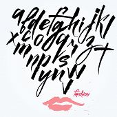 picture of graffiti  - Expressive calligraphic script - JPG