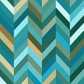 Seamless Color Abstract Zigzag Vector Background