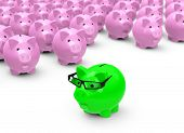 the green piggy bank