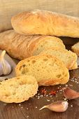 Fresh bread - ciabatta chili garlic