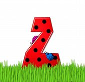 Alphabet Lady Bug Red Z