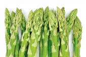 Asparagus bunch a premium seasonal vegetable isolated on a white background