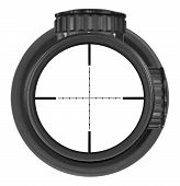 Looking Through New Rifle Scope With Mil-dot Reticle, Three Clipping Paths