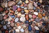 Baltic Sea Stones And Pebbles Background.